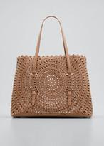 Alaia Mina Small Vienne Laser-Cut Leather Tote Bag