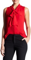 Parker Sleeveless Pussy Bow Blouse