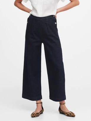 Banana Republic JAPAN EXCLUSIVE High-Rise Wide-Leg Cropped Sailor Jean