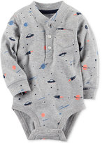 Carter's Space-Print Henley Bodysuit, Baby Boys (0-24 months)