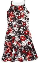 Aqua Girls' Floral Print Dress, Big Kid - 100% Exclusive