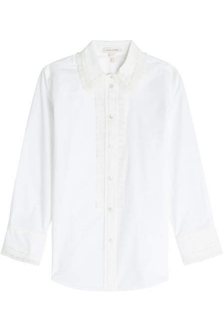 Marc Jacobs Cotton Shirt with Chiffon Trim