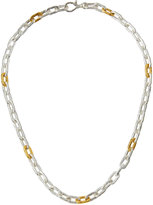 "Gurhan Two-Tone Oval-Link Chain Necklace, 18""L"