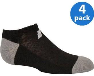 Russell Boys' Comfort Performance Dri-Power 360 No Show Socks - 4 Pack
