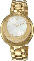 Versace Women's 'PERPETUELLE' Swiss Quartz Stainless Steel Casual Watch, Color:Gold-Toned (Model: VAQ080016)