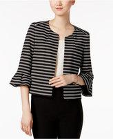 Nine West Striped Ponté Knit Jacket