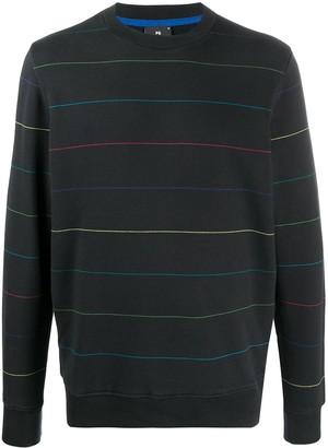 Paul Smith Long Sleeve Striped Pattern Sweater