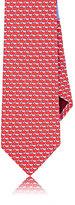 Salvatore Ferragamo Men's Dolphin-&-Star-Print Silk Necktie