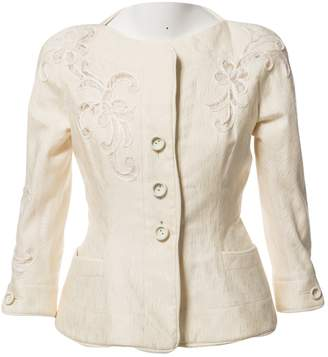 Christian Dior Ecru Cotton Jackets