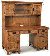 Asstd National Brand Constance Pedestal Desk with Hutch