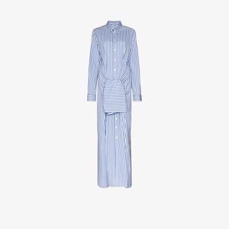 Jil Sander Mattie tie waist cotton maxi dress