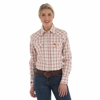 Riggs Workwear Women's FR Flame Resistant Western Long Sleeve Button Work Shirt