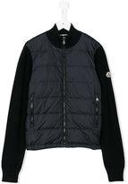 Moncler padded cardigan - kids - Acrylic/Polyamide/Wool - 8 yrs