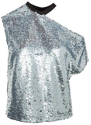 RtA Axel Sparkle Cutout T-Shirt