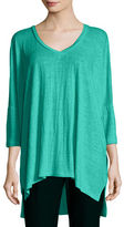 Eileen Fisher Dolman-Sleeve Boxy Organic Linen Tunic, Plus Size