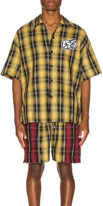 Just Don The Dealer Plaid Snap Shirt in Yellow | FWRD