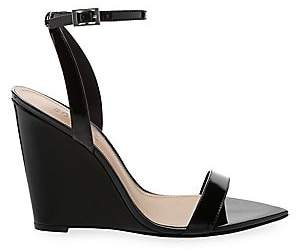 Schutz Women's Raquel Polished Leather Wedge Sandals