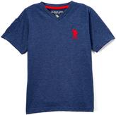 U.S. Polo Assn. Rinsed Blue Heather V-Neck Short-Sleeve Tee - Toddler & Boys