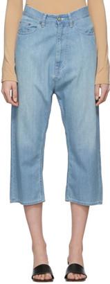 MM6 MAISON MARGIELA Blue Dropped Inseam Jeans