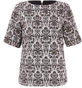 DAY Birger et Mikkelsen Black Bling Embellished Cotton-Blend Jacquard