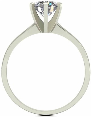 Moissanite 18 Carat White Gold 1 Carat Solitaire Ring