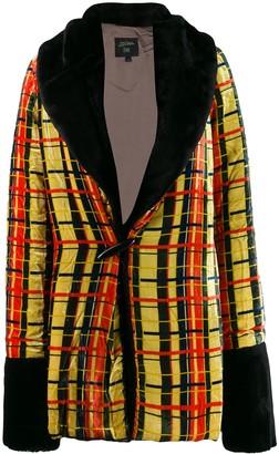 Jean Paul Gaultier Pre Owned 1997 Check faux fur jacket