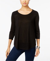 Style&Co. Style & Co. Petite Lace-Back Swing Top, Only at Macy's