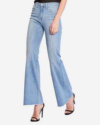 Express Flying Monkey Super High Waisted Bell Flare Jeans