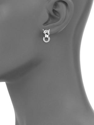 Effy Diamond & Sterling Silver Drop Earrings