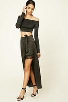 Forever 21 FOREVER 21+ Contemporary Satin Maxi Skirt