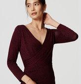 LOFT Side Shirred Wrap Dress