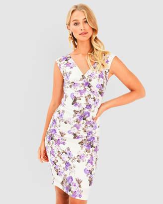 Forcast Valerie Floral V-Neck Dress