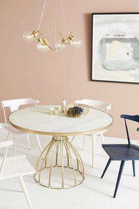 Anthropologie Seaford Pedestal Dining Table By in Yellow