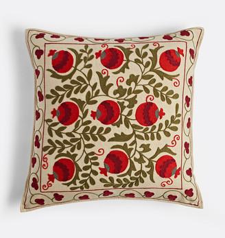 Rejuvenation Suzani Embroidered Pillow Cover