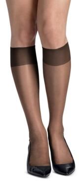 Hanes Women's 6-Pk. Slik Reflections Reinforced-Toe Knee Highs