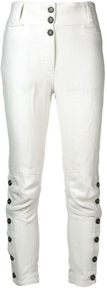 Ann Demeulemeester buttoned ankle slim-fit trousers