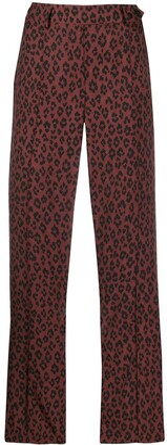 A.P.C. cropped leopard print trousers