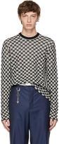 Lanvin Black and White Check Pullover