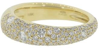 Kwiat 18kt yellow gold diamond Cobblestone band ring