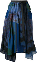 Sacai pleated skirt - women - Silk/Nylon/Polyester/Rayon - 2