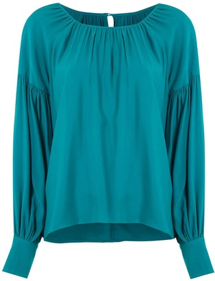 LE SOLEIL D'ETE Salome gathered blouse