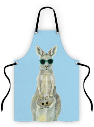Alex Liddy Olivia York Kangaroo Cotton Apron Blue
