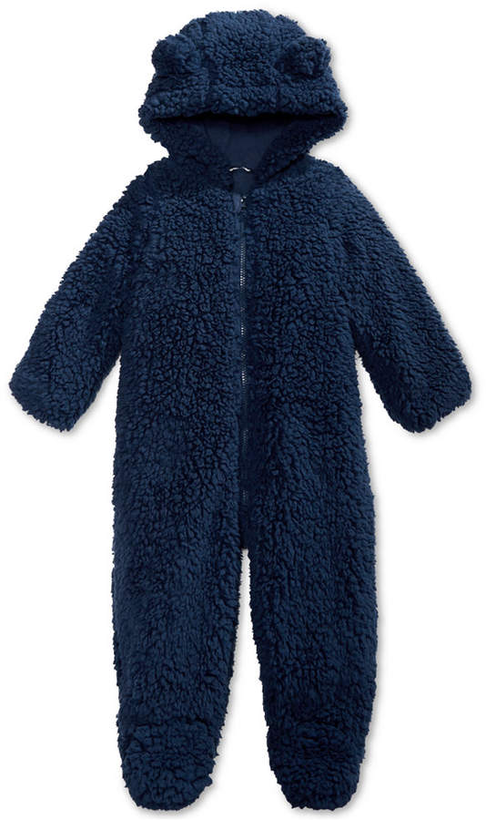 9f1389e3fc9 Baby Boys & Girls Hooded Footed Faux-Sherpa Bunting Snowsuit