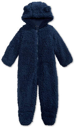 First Impressions Baby Boys & Girls Hooded Footed Faux-Sherpa Bunting Snowsuit