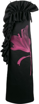 Christopher Kane Ruffle Trim Evening Dress