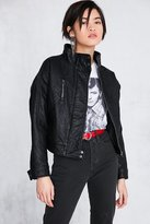 Silence & Noise Silence + Noise Etienne Pebbled Vegan Leather Jacket