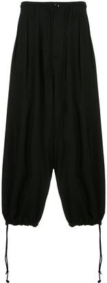 Yohji Yamamoto Drop-Crotch Pleated Trousers