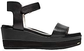 Cole Haan Women's Grand Ambition Leather Platform Wedge Sandals