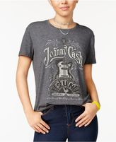 Hybrid Juniors' Johnny Cash Graphic T-Shirt