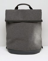 Asos Backpack In Charcoal Marl Scuba